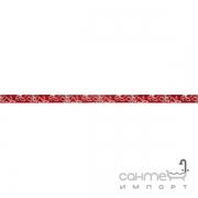 Бордюр Ceramika Color Crypton rosso listwa szklana 2.5x60