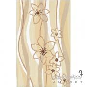 Плитка Ceramika Color Samba beż dekor (цветы) 25x40