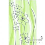 Плитка Ceramika Color Samba zielona dekor (цветы) 25x40