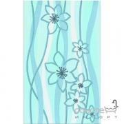 Плитка Ceramika Color Samba niebieska dekor (цветы) 25x40