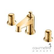Смеситель для раковины Yatin Carving Gold 8065006VF на 3 отверстия золото