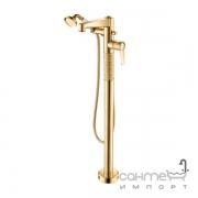 Смеситель для ванны напольный с ручным душем Yatin Carving Gold 8065018VF золото