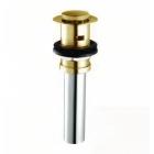 Донный клапан для раковины с переливом COSO 8802 (click-clack) золото