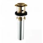 Донный клапан для раковины с переливом COSO 8802 (click-clack) бронза