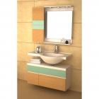 Комплект мебели для ванной комнаты CRW GSP9102 песочный