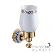 Стакан с держателем Devit Charlestone Ceramic 3058142G золото