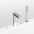 Врезной смеситель для ванны на 4 отверстия Vega Quadro Lux (91А0305022)