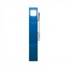 Душевая панель Appollo A-1301D с парогенератором и электрическим термостатом, голубая