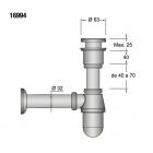 Сифон для раковины Salgar Drain pipe clicker хром 16994