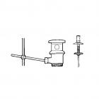 Донный клапан для раковины/биде Roca A526409210 Хром