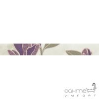 Плитка Paradyz Penza Beige Listwa Kwiat 4,8x40 (кафель с цветами)